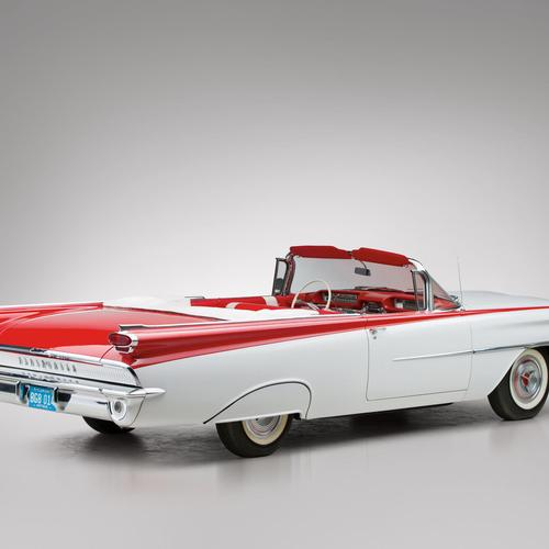 1959 Oldsmobile Dynamic 88 Convertible 3267 Ретро шпалери