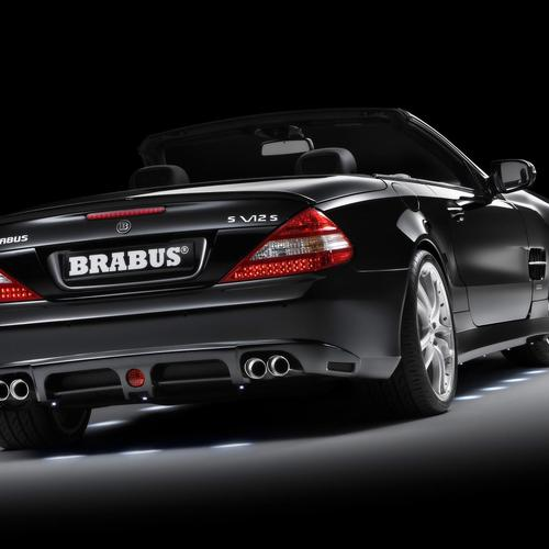 2008 Brabus Mercedes-benz sl class rear angle tilt topless wallpaper