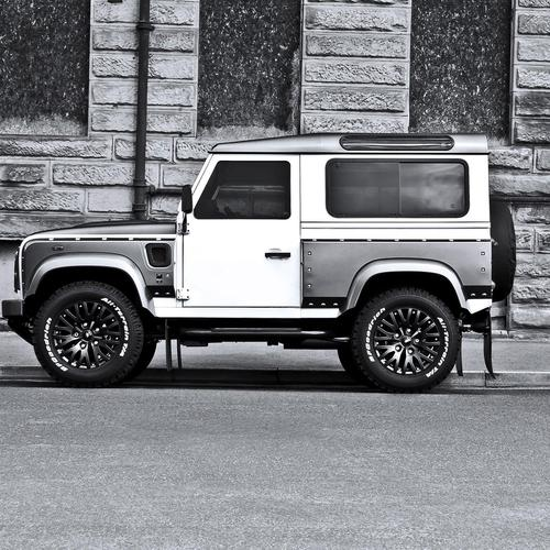 2013 Kahn design Land Rover White Pearl Grey Defender Suv tapeta