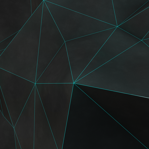 3D black polygon wallpaper