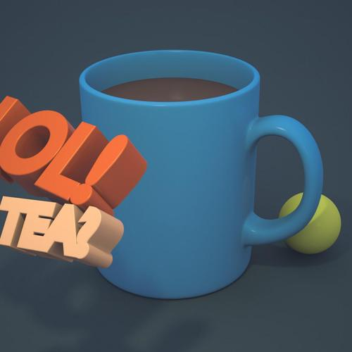3D Coffee drink wallpaper