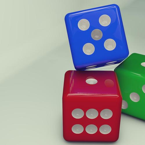 3D dices wallpaper
