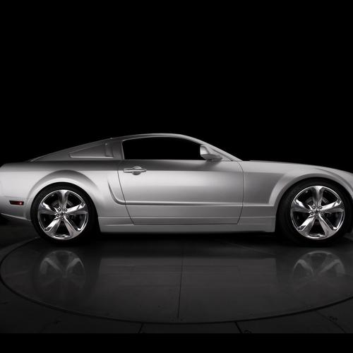 45th Anniversary Ford Mustang (iacocca Silver) Side wallpaper