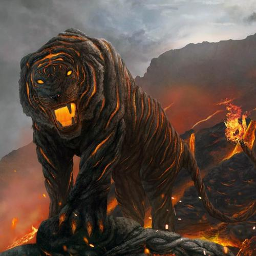 A Tiger From Hell's Volcano wallpaper