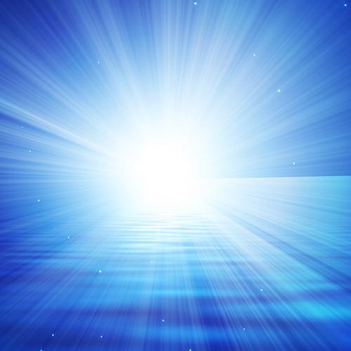 Abstract blue light horizon wallpaper