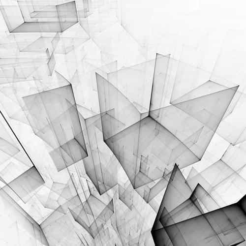 abstract bw white cube pattern