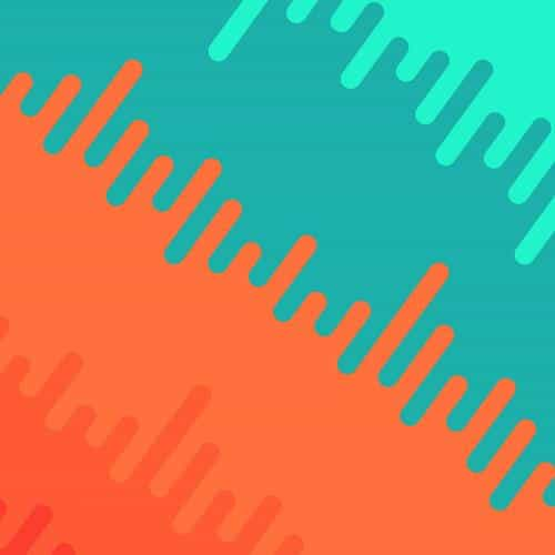 abstract orange green art pattern