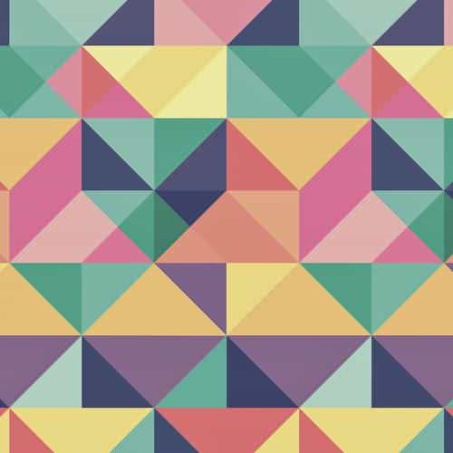 abstract polygon art pattern rainbow