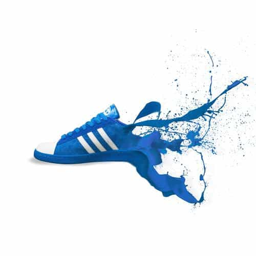 adidas blue shoes sneakers logo art