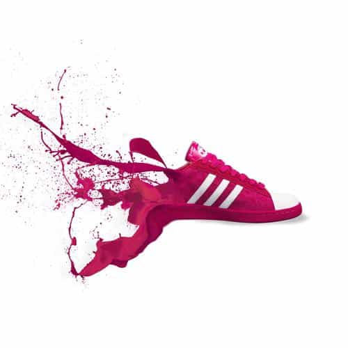 adidas red shoes sneakers logo art splash