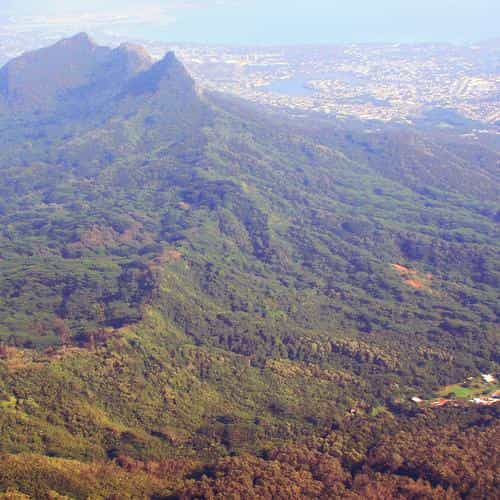 aerial view of mountain daemo