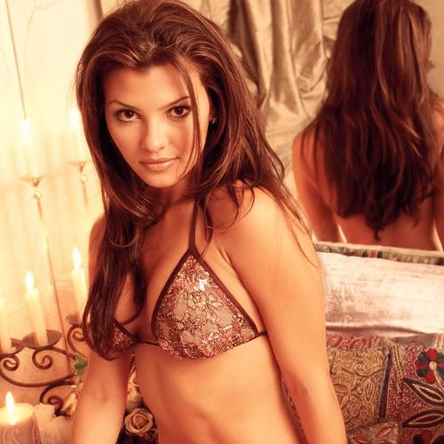 Ali Landry in bedroom
