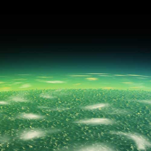 alien green earth space planet dark
