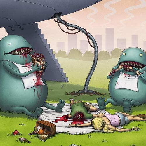 Download Alien picnic High quality wallpaper