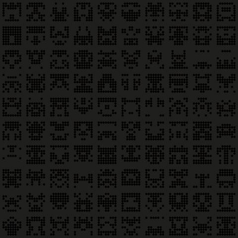 alien symbols dark pattern