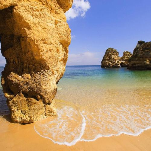 Amazing beach in Algarve Portugal wallpaper
