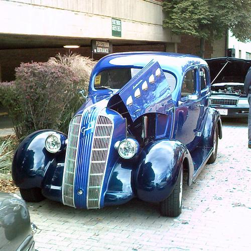 Amazing blue tuning car