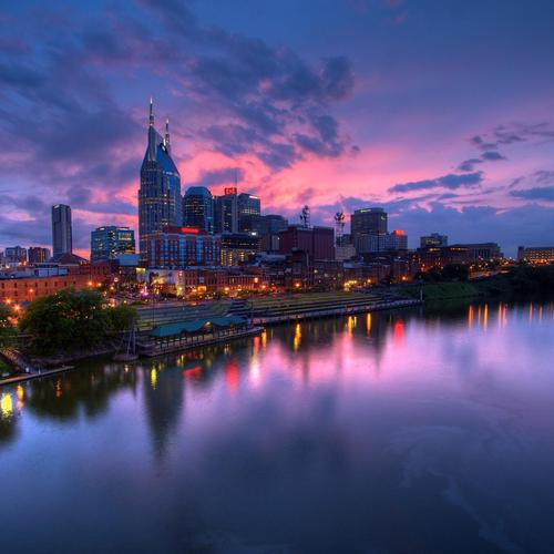 Amazing Nashville in sunset wallpaper