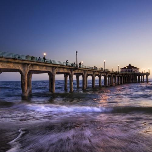 Amazing pier over on the beach wallpaper