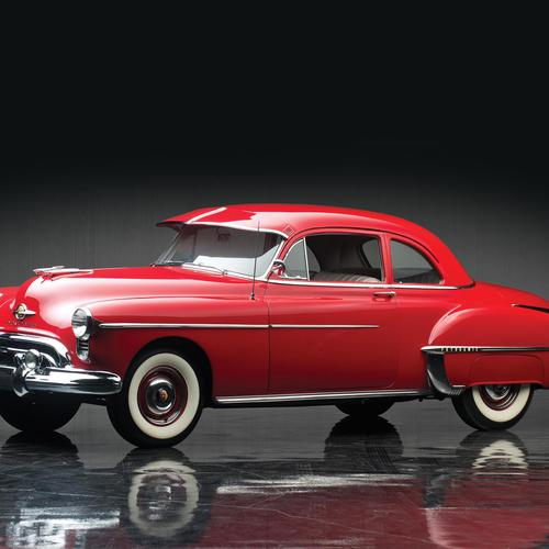 Amazing red Oldsmobile 88 Club Coupe