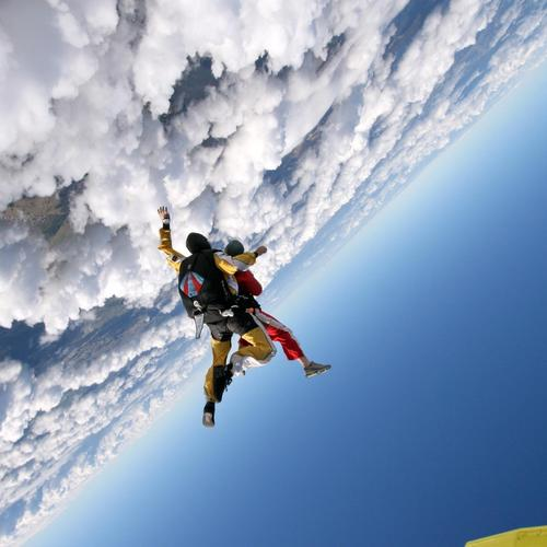Amazing skydiving tapeta