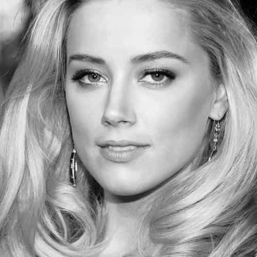 amber heard black dress hollywood star