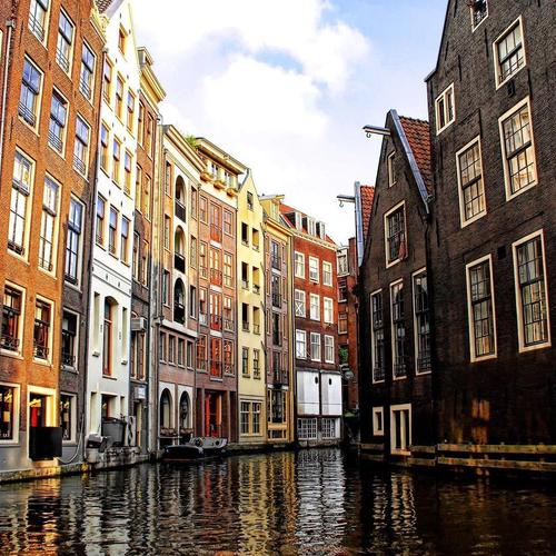 Amsterdam canal in Venice wallpaper