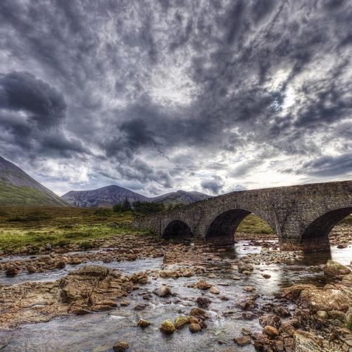 Ancient stone bridge Hdr
