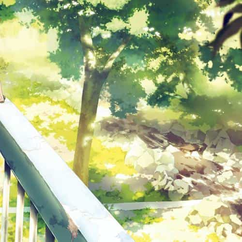 anime background art illust forest
