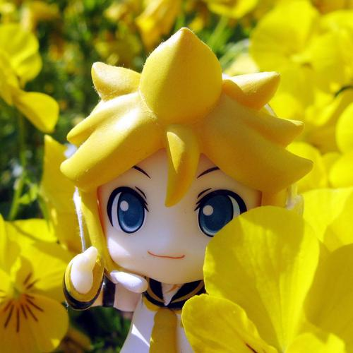 Anime character in flower