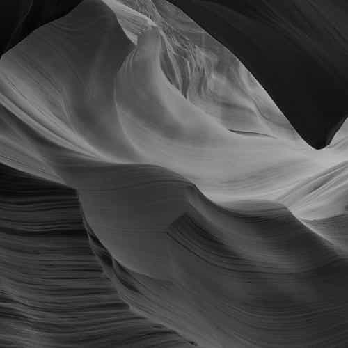 antelope canyon bw black mountain rock nature