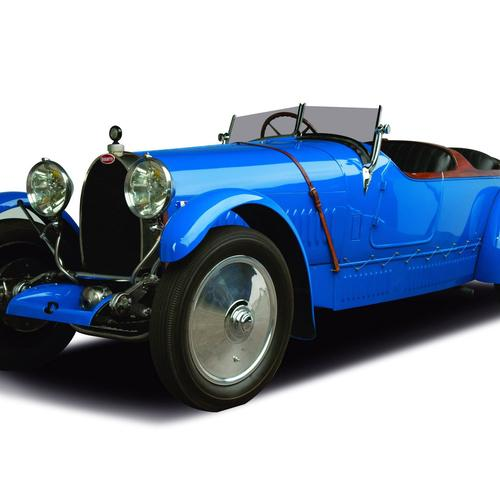Antique Bugatti car