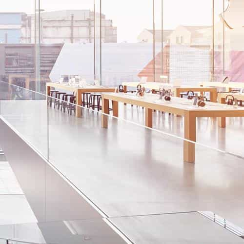 apple shop store interior city