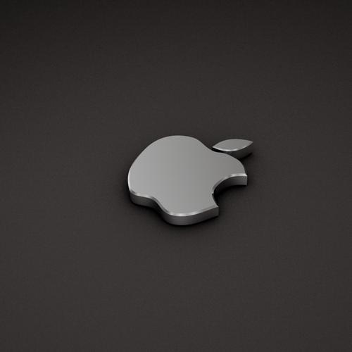 Apple steel 3d logo