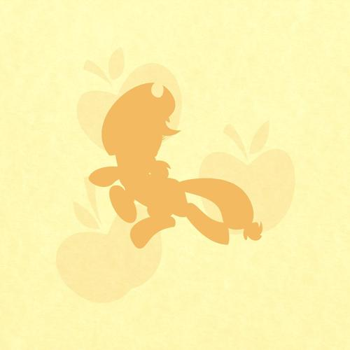 Applejack in yellow wallpaper