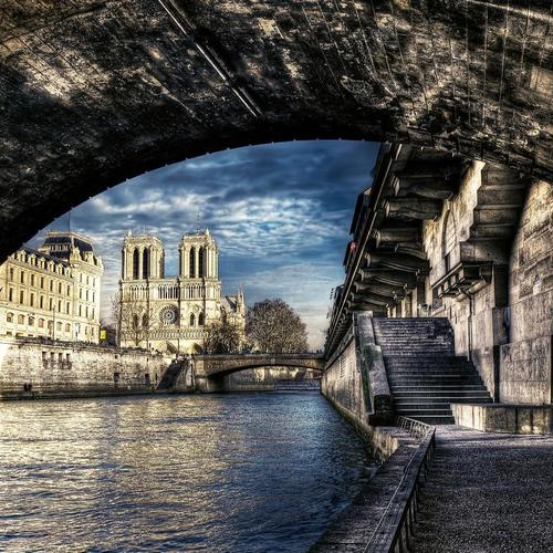 Arches Notre Dame Paris wallpaper