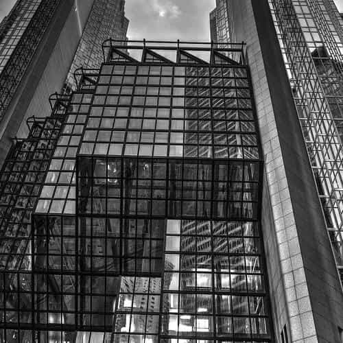 architecture building city pattern dark bw