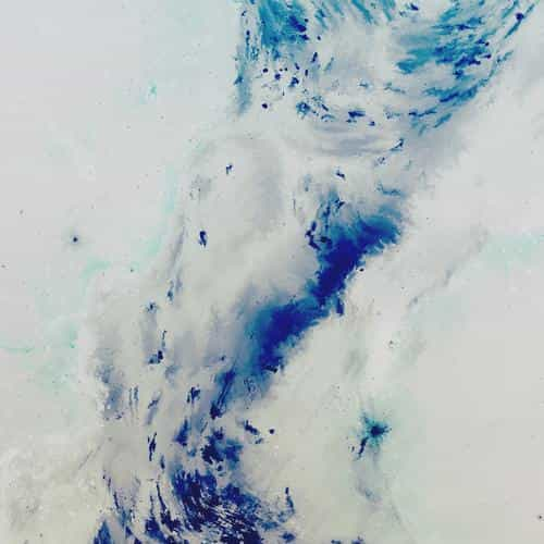 art painting illust art hurricane blue abstract