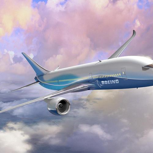 Artistic Boeing 787 wallpaper