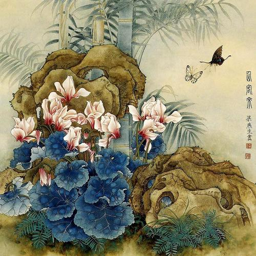 Asian painting wallpaper