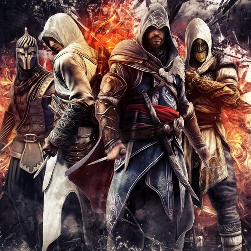 Assassin's Creed Ezio en Altair Epic behang