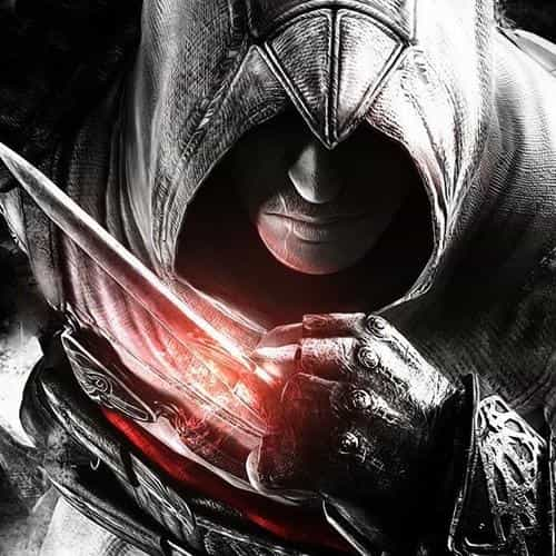 assassins creed dark game hero illustration art