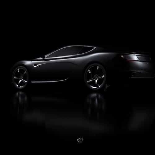 aston martin black car dark