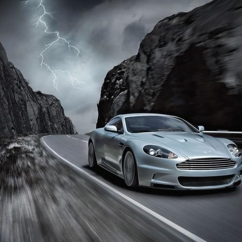 Aston Martin DBS on road wallpaper