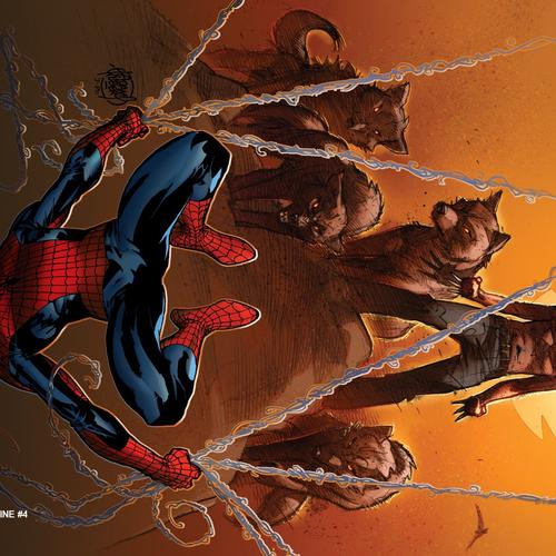 Astonishing Spider Man & Wolverine papel de parede