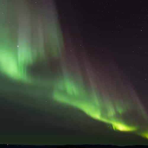 aurora night sky nature