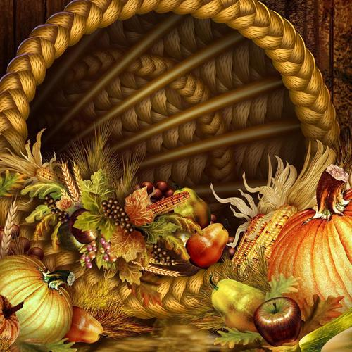 Autumn basket wallpaper