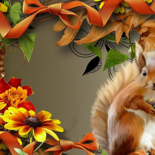 Autumn Squirrel wallpaper