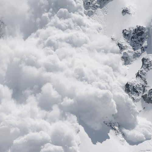 avalanche snow mountain