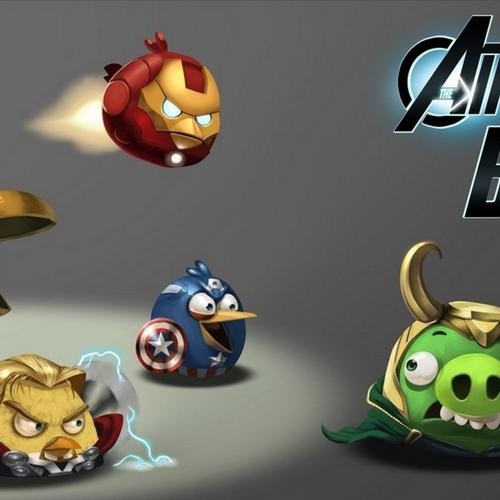 Avengers Angry birds wallpaper